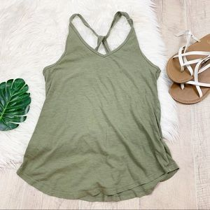 Maurices Racerback Green Loose Fit Tank Top D1182
